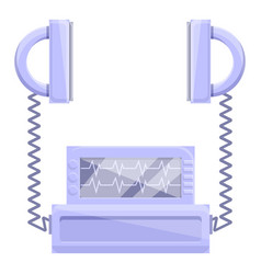 Emergency defibrillator icon cartoon style vector