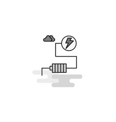 energy web icon flat line filled gray icon vector image