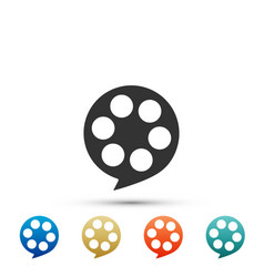 film reel icon isolated on white background vector image