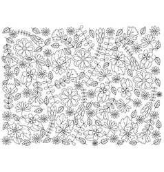 Floral ornament coloring book vector image