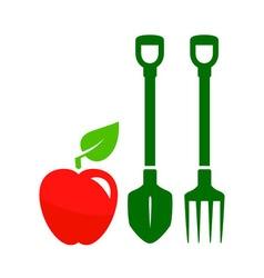 Garden harvest symbol vector