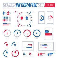 Gender Vote Information Graphic Set vector