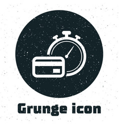 Grunge fast payments icon isolated on white vector
