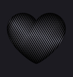 Heart of interweaving lines isolated editable vector