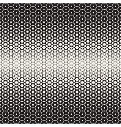 Hexagon Star Shapes Blend Halftone Lattice vector