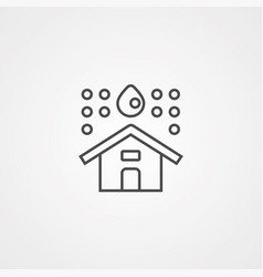home icon sign symbol vector image