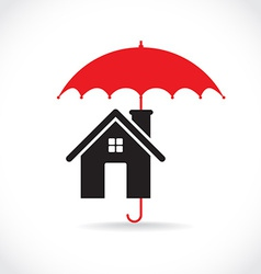House with umbrella vector image vector image