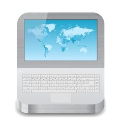 Icon for laptop vector image