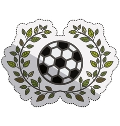 Isolated ball of soccer design vector image