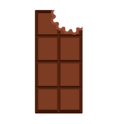 isolated chocolate bar icon vector image