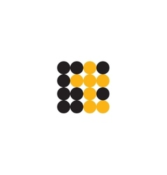 Letter T in the form of abstraction yellow vector image vector image