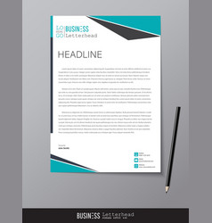 Letterhead design template and mockup minimalist vector
