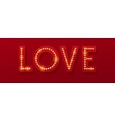 Love Retro light banner Valentines card vector image