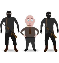 Mafia Boss and gansters vector image