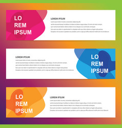 modern trendy banners vector image