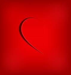 One half of the heart on red vector image