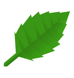 origami leaf icon cartoon style vector image