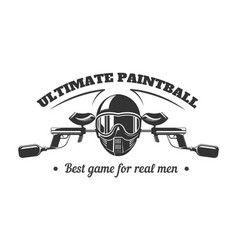 paintball club logo template of pint ball gun vector image