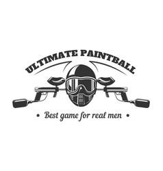 paintball club logo template pint ball gun vector image