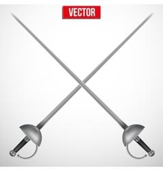 Pair of Fencing Rapiers Realistic vector