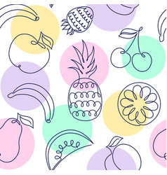 pattern fith fruits vector image
