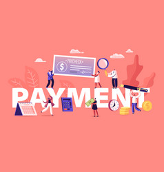Payment concept people paying money for services vector