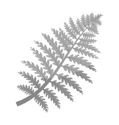 Prehistoric plant icon in monochrome style vector
