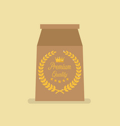 Premium quality package paper bag vector