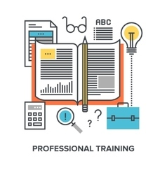 professional training concept vector image