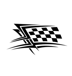 Racing sports tattoo vector