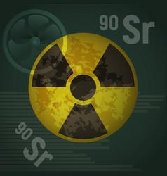 radioactive strontium vector image