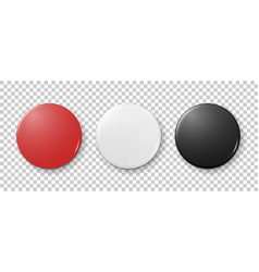 realistic 3d empty graphic red white and black vector image