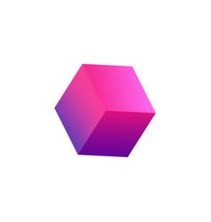 Realistic cube icon vector