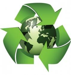 Recycle globe vector