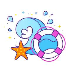 sea vacations logo vector image