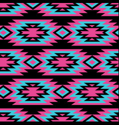 seamless decorative ethnic pattern american vector image