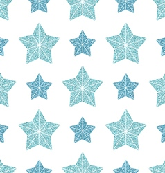 seamless pattern blue stars vector image