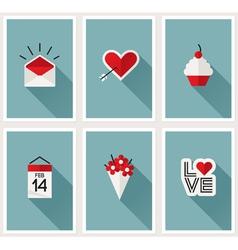 Set of romantic Valentines day symbols vector
