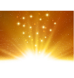 Shiny abstract magic gold light background vector