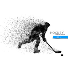 Silhouette of a hockey player from particles vector