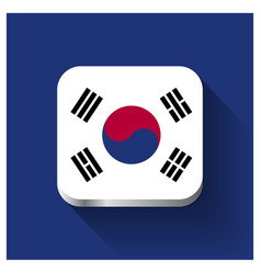 south korea flags design vector image