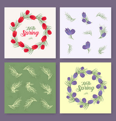 spring background spring time spring vector image vector image