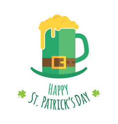 st patricks day greeting card design vector image