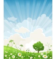 Summer scenery vector image