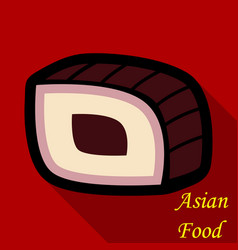 Sushi icon in a flat style with a shadow vector