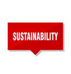 Sustainability red tag vector