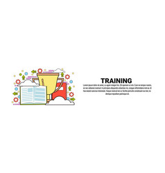 training business education concept horizontal vector image