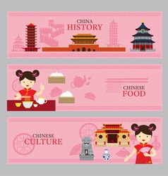 Travel China Concept Banner vector