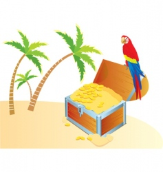 Treasure parrot color vector