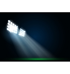 Two spotlights on a football field vector